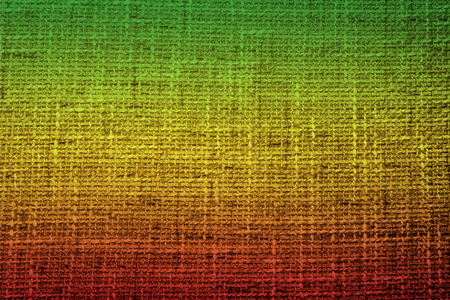 Colors of reggae on the fabric background