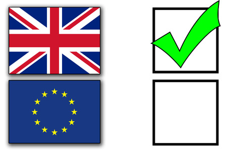 Brexit voting forms Stock Photo