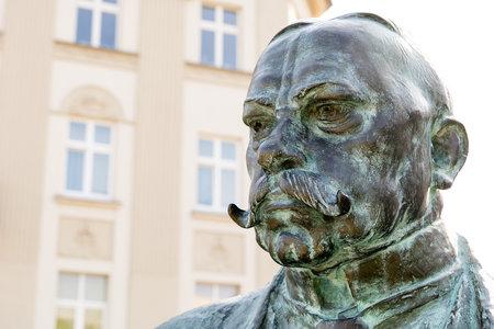Monument of Juliusz Leo at Podgorze district in Krakow (Poland) 新聞圖片