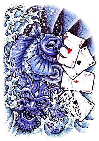 タトゥー 写真素材