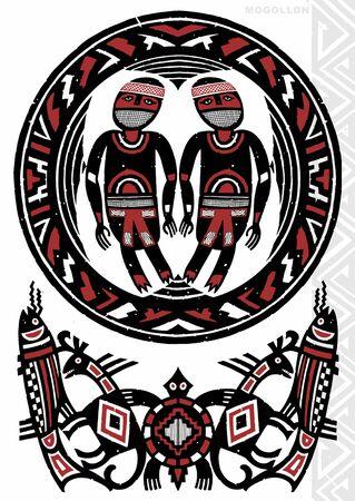 indian tattoo: TATTOO FLASH Stock Photo