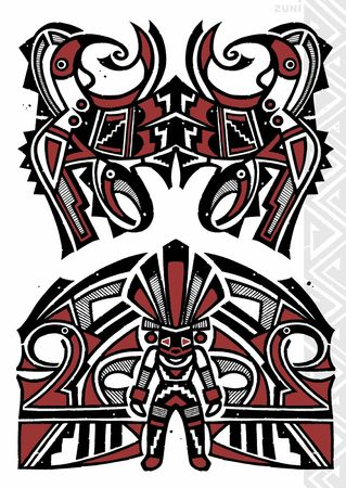 totem indien: TATTOO FLASH Banque d'images
