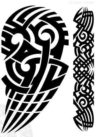 black  tattoo: TATTOO FLASH Stock Photo