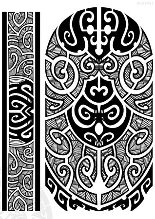 warrior tribal: TATTOO FLASH Stock Photo