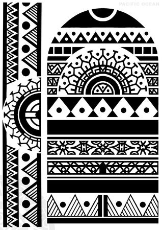polynesian: TATTOO FLASH Stock Photo