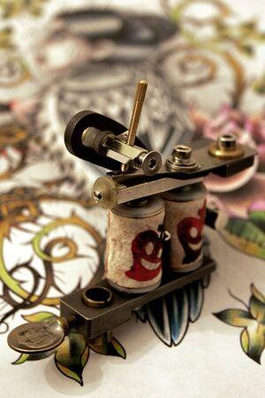 タトゥー マシン 写真素材