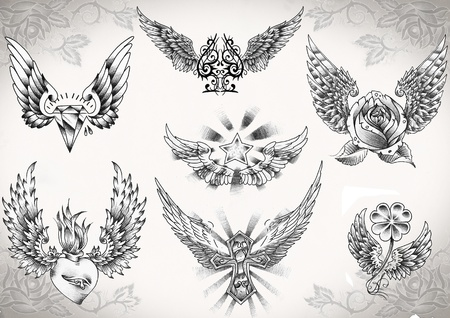 tattoo flash made by me,  no copyright