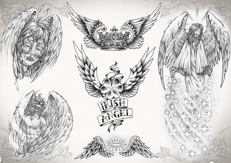 tattoo flash made by me,  no copyright Stock Photo - 8426262