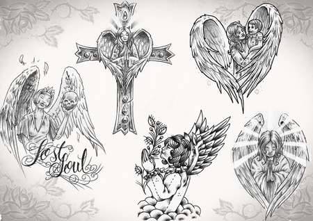 tattoo flash made by me,  no copyright Stock Photo - 8496904