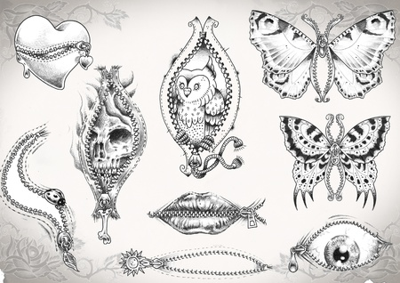 me: tattoo flash made by me,  no copyright
