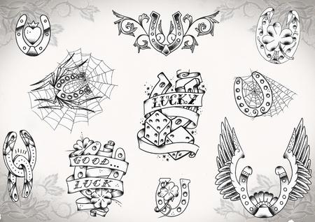 タトゥー フラッシュ 写真素材