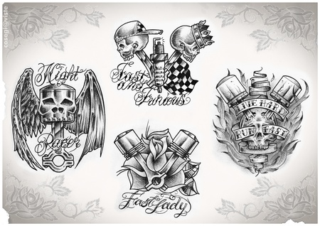 tattoo flash done by me,  no copyright Stock Photo - 8947586
