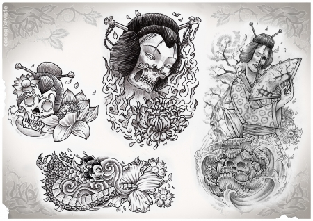 tattoo flash made by me Stock Photo - 9303946