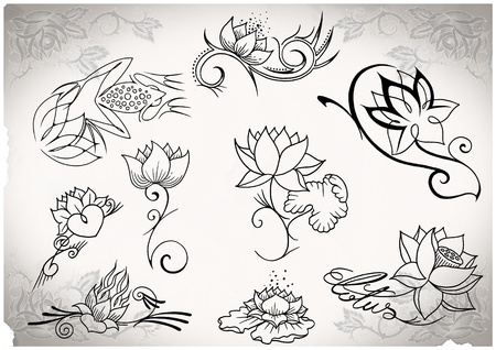 tattoo flash made by me, no copyright Stock Photo - 10291078