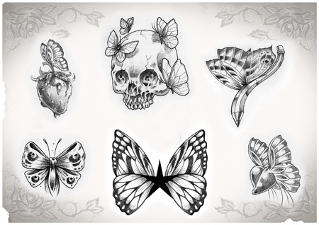 tattoo flash made by me, no copyright Stock Photo - 10297448