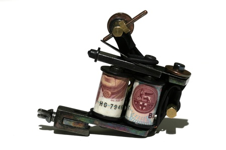 machine made: tatto machine made by me