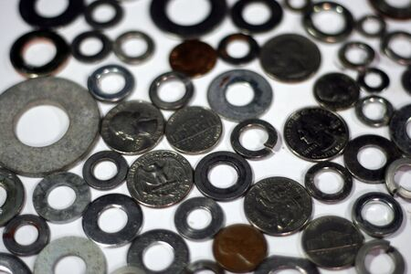 Coins and circles Stock Photo - 1254723