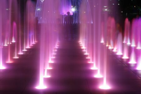 ragsac: Colorful Fountain At Night