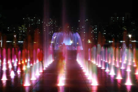 Colorful Fountain At Night photo