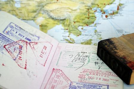 philippines map: Visa Stamps  Stock Photo