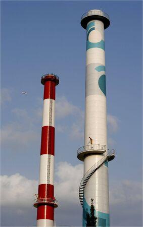 smoke stack: Smoke Stack Stock Photo