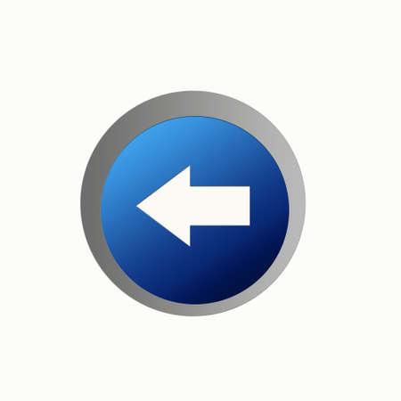 backward: Aqua Button - Backward
