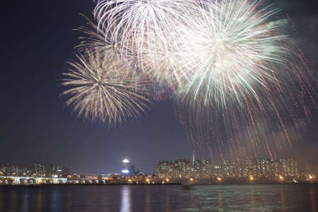 spectacular display of fireworks Stock Photo - 1953259