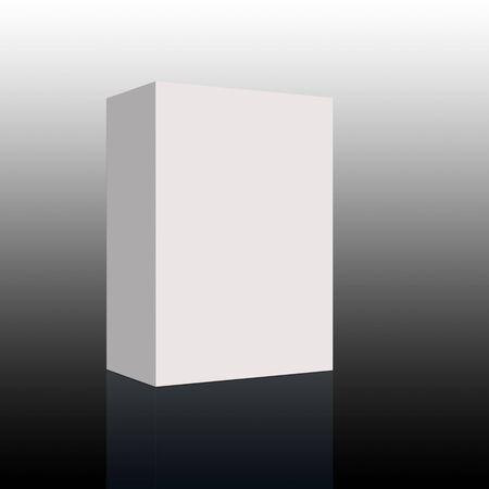 parfum: 3d render of a white blank box  Stock Photo