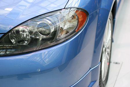 the latest models: Latest Car Headlights  Stock Photo