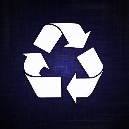 Logotipo de reciclaje en alta resoluci�n Foto de archivo - 2110522