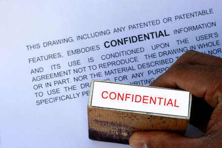 stamped: Confidential stamp