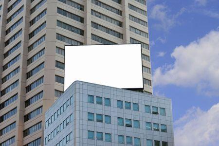 adboard: Blank Billboard on top of a building