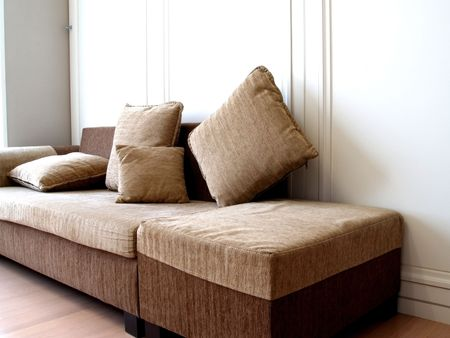 Cosy  brown Sofa Stock Photo - 2268541