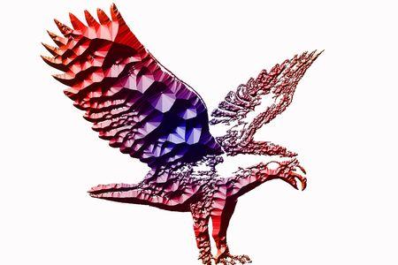 Eagle Illustration in 3d high resolution Stock Illustration - 2268542