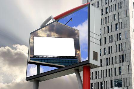 superimposed: Three Blank Billboard Superimposed  Stock Photo