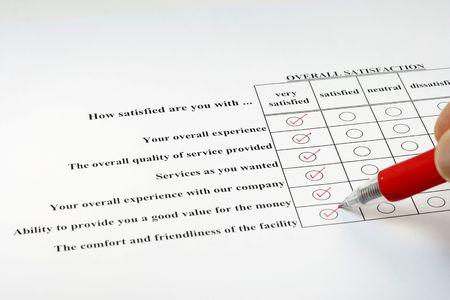 How satisfy are survey Stock Photo - 2587606