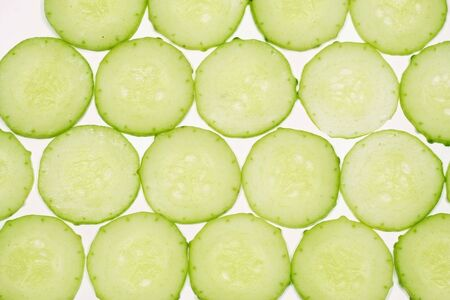 thinly: Thinly sliced cucumber