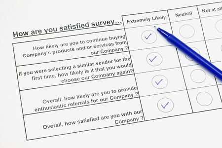appraise: How satisfied are you survey  Stock Photo