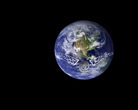 Email being sent around the world through internet Stock Photo - 2651836