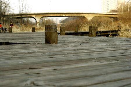 Wooden Plank Walkway  photo