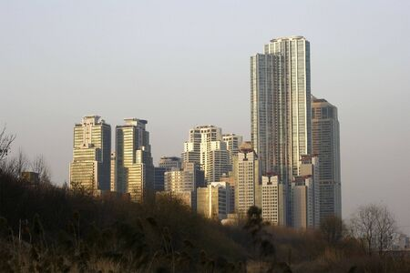 City skyline of Dogok District Stock Photo - 2706180