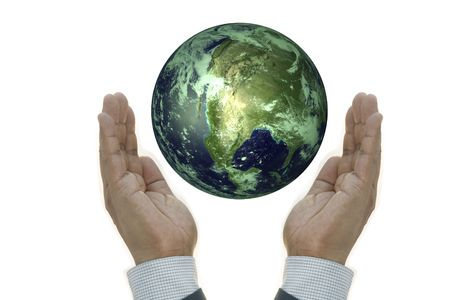 Businesshand Holding Earth Concept
