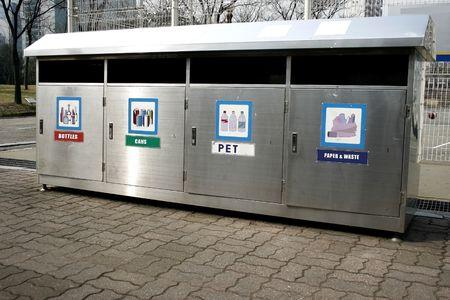 papelera de reciclaje: Papelera de reciclaje  Foto de archivo