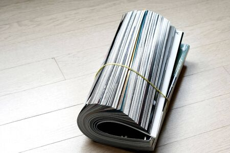 close up of rolled up magazine Stock Photo - 2839045