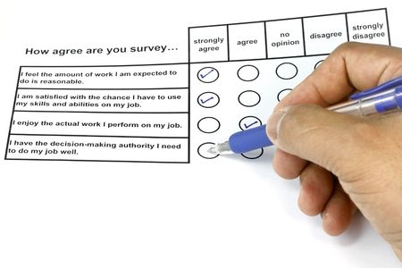 How Agree Are You Survey - business concept for management and human resources. photo