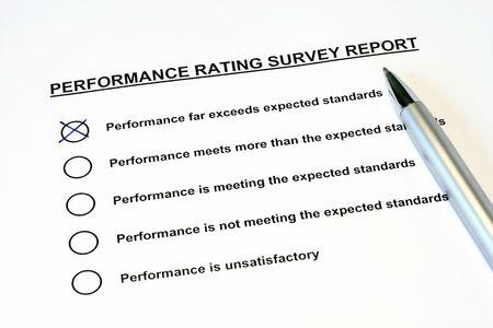 Performance Rating Survey Report Stock Photo - 2982035
