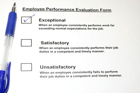 Employee Performance Evaluation form Stock Photo - 3224832