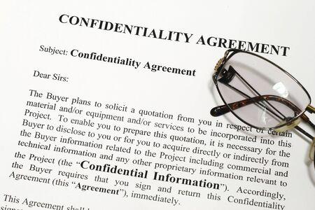 company secrets: Azienda accordo di riservatezza