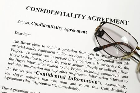 Company Confidentiality Agreement  Stock Photo - 3282572