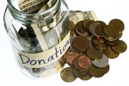 glas: Donation  Stock Photo